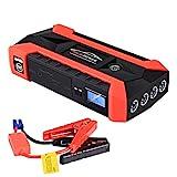 LUCKLY Auto Notstartstrom, 89800mAh 12V LCD 4 USB Auto Starthilfe Pack Booster Ladegerät Batterie...