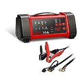 AEG Automotive 97019 Mikroprozessor-Ladegerät LL 10.0 Ampere für 12 und 24 V Batterien, 8-stufig