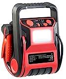 REVOLT Powerpack Starthilfe: 5in1-Starthilfe-Powerbank & Kompressor, USB, 12V 9.000mAh, 600A 250psi...